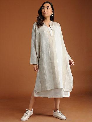Chalet Ivory Linen Dress with Slip (Set of 2)