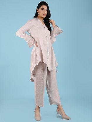 Danielle Blush Linen Long Shirt