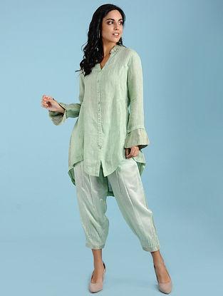 Danielle Lime Linen Long Shirt