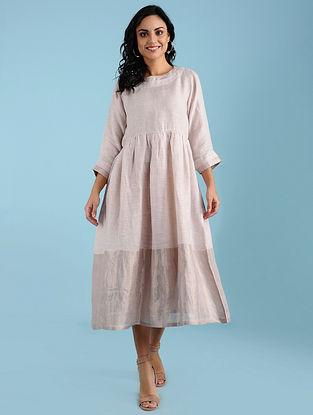 Estelle Blush Linen Midi Dress