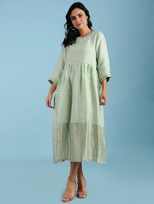 Estelle Lime Linen Midi Dress