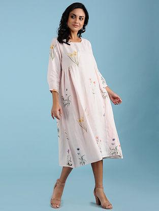 Chamille Pink Botanical Printed Dress