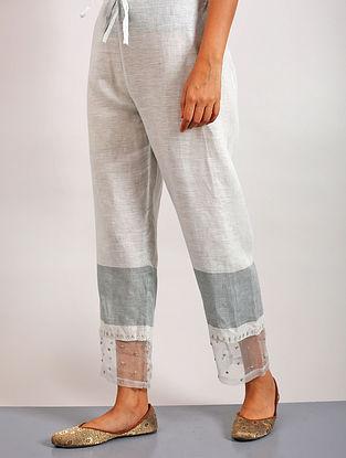 Sanoh Aqua Embroidered Linen Pants
