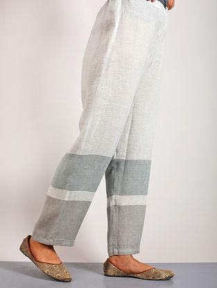 Qara Aqua Linen Pants