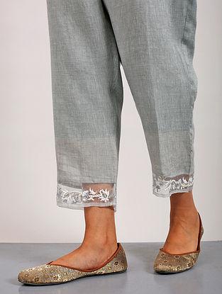 Pensri Grey Linen Pants