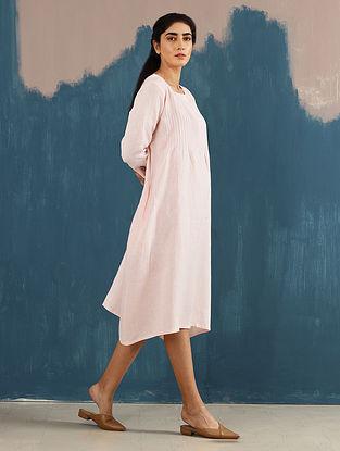 Serene Blush Pintucks Linen Dress