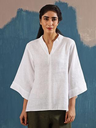 Kaiya Zen Ivory Linen Top