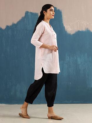 Satori Blush Pleated Linen Top
