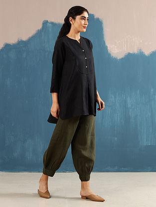 Roshi Black Linen Top