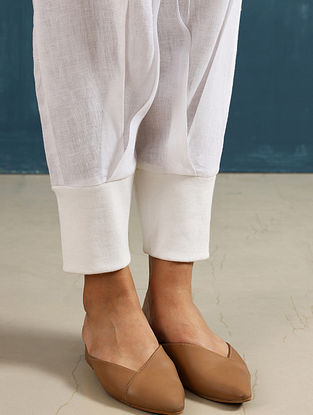 Zendo Ivory Linen Crop Pants