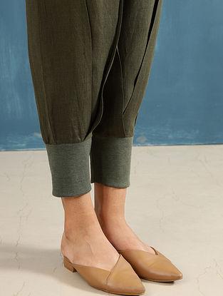 Zendo Olive Linen Crop Pants
