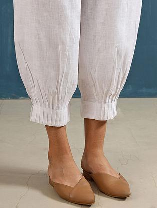 Lenora Ivory Pintucks Linen Pants