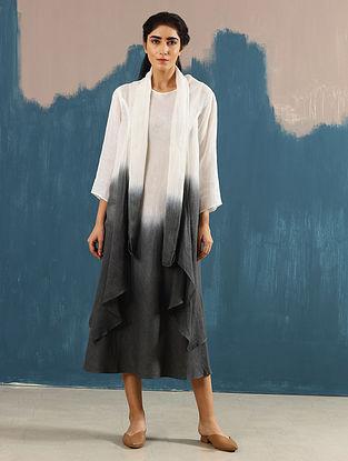 Kiya Ombre Ivory Hand-Dyed Linen Dress with Jacket (Set of 2)