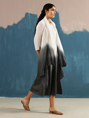 Vai Ivory Hand-Dyed Linen Cape