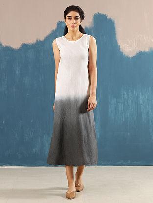 Zen Ivory Hand-Dyed Linen Dress