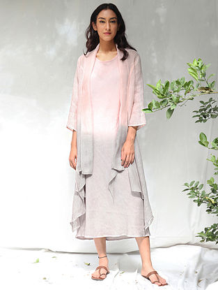 Zen Blush Hand-Dyed Linen Dress