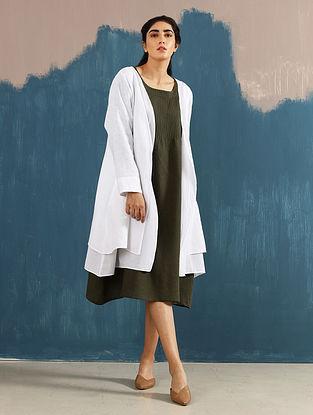 Akari Ivory Layered Linen Jacket