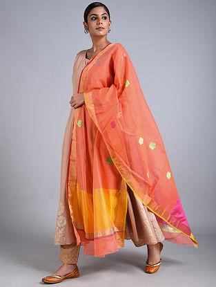 Orange Handwoven Chanderi Dupatta