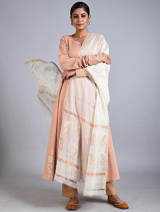 Ivory Handwoven Chanderi Dupatta