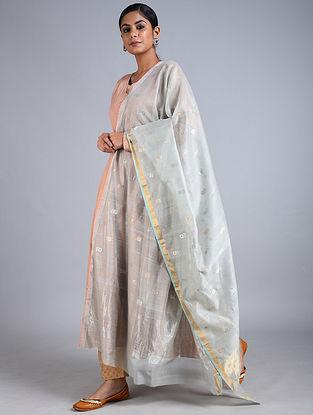 Grey Handwoven Chanderi Dupatta