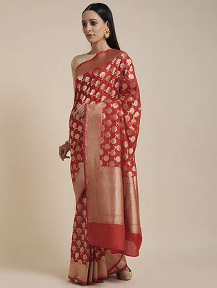 Red Handwoven Benarasi Silk Saree
