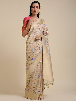 Bronze Handwoven Benarasi Silk Saree
