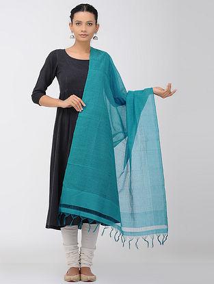 Blue Missing Checks Mangalgiri Cotton Dupatta
