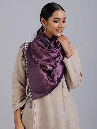 Purple Handwoven Ikat Silk Stole