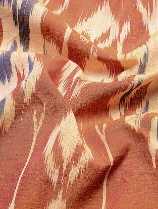 Orange-Cream Central Asian Ikat Mercerized Cotton Fabric