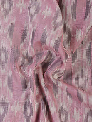 Pink Handloom Ikat Cotton Fabric