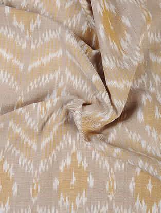 Beige-Ivory Handloom Ikat Cotton Fabric