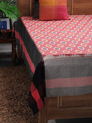 Multicolored Ikat Cotton Double Bedcover ( 104in x 90in)