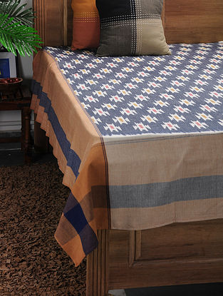 Multicolored Ikat Cotton Double Bedcover ( 105in x 90in)