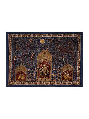 Goddess Meldi Mata Ni Pachedi Kalamkari Artwork on Textile (44.5in x 62in)