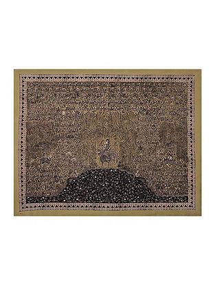 Goddess Bahuchar Mata Ni Pachedi Kalamkari Artwork on Textile (40in x 51in)