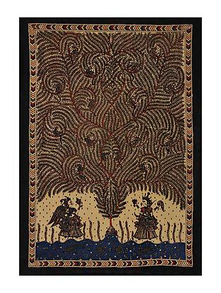 Tree of Life Mata Ni Pachedi Kalamkari Artwork on Textile (45in x 31in)