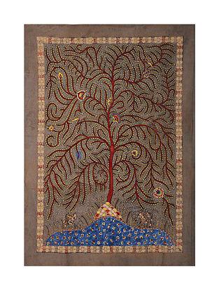 Tree of Life Mata Ni Pachedi Kalamkari Artwork on Textile (44in x 30.5in)