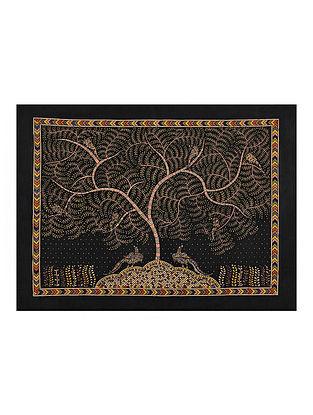 Tree of Life Kalamkari Artwork on Textile (35in x 28in)