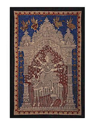 Goddess Sagat Mata Ni Pachedi Kalamkari Artwork on Textile (82in x 57in)