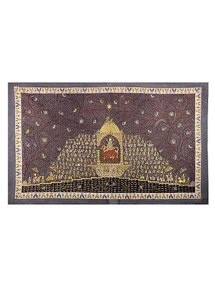 Goddess Vahanvati Mata Ni Pachedi Kalamkari Artwork - 47in x 78in