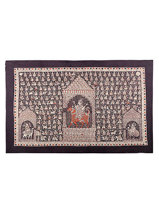 Goddess Maldi Mata Ni Pachedi Kalamkari Artwork - 44in x 64in
