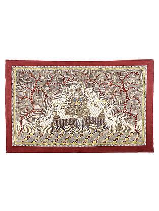 Goddess Visat Mata Ni Pachedi Kalamkari Artwork - 48in x 68in