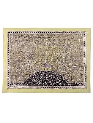 Goddess Bauchar Mata Ni Pachedi Kalamkari Artwork - 39in x 50in