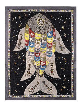 Fish Mata Ni Pachedi Kalamkari Artwork - 47in x 36in