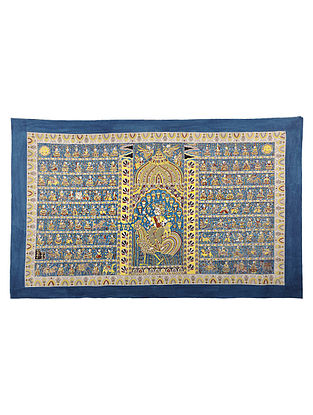 Goddess Bauchar Mata Ni Pachedi Kalamkari Artwork - 39in x 64in