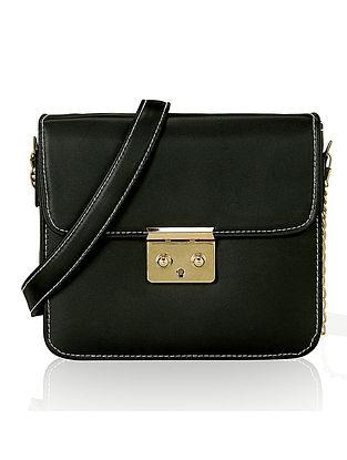 Black Handcrafted Sling Bag