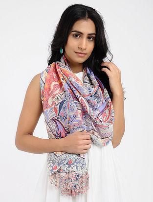 Multicolored Printed Cotton Scarf