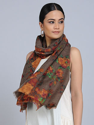 Brown-Rust Merino Wool Scarf