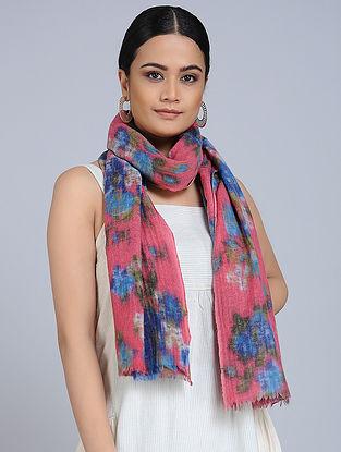 Pink-Blue Merino Wool Scarf