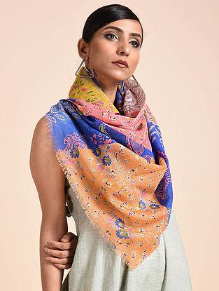 Multicolored Printed Merino Wool Scarf